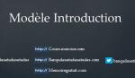 modèle introduction