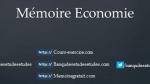 Mémoire Economie